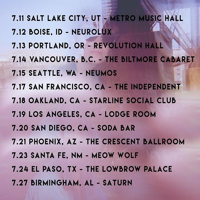 touring w @wyeoakmusic in July!! make sure y'all get yer tix soon 😎