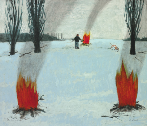 three fires in winter