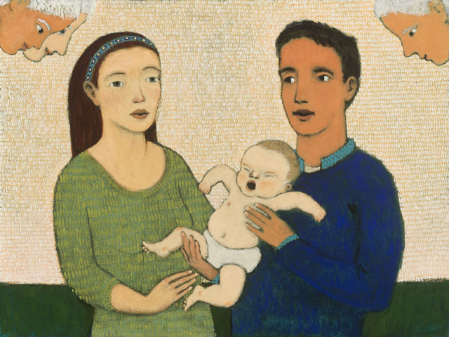 Holy Family and an angry baby