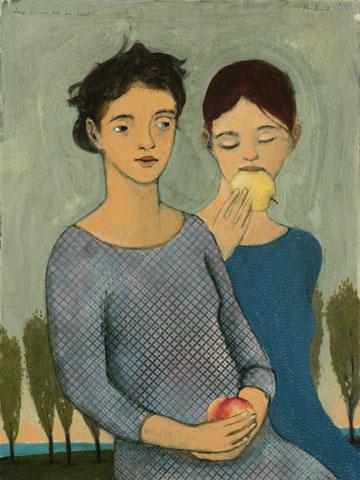 deux femmes avec de fruit