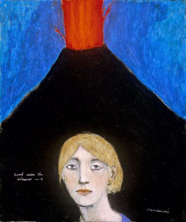Carol under the volcano