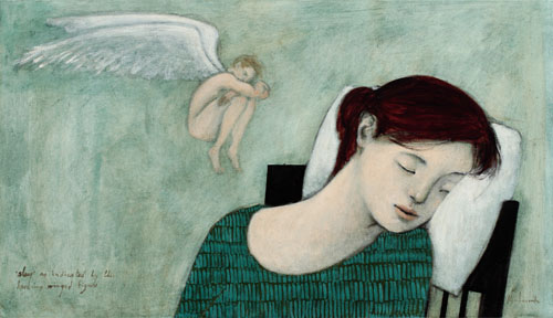 'sleep' as indicated by the hovering winged figure