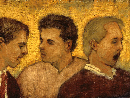 Three men - two of whom are singing