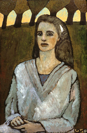 Woman with six trees