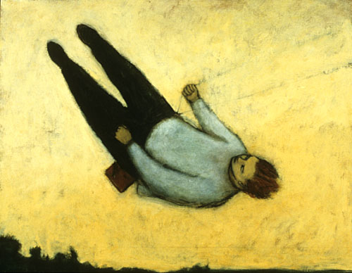 A man swinging