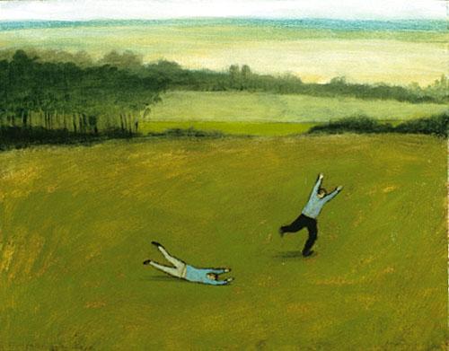 Flight practice on the grass