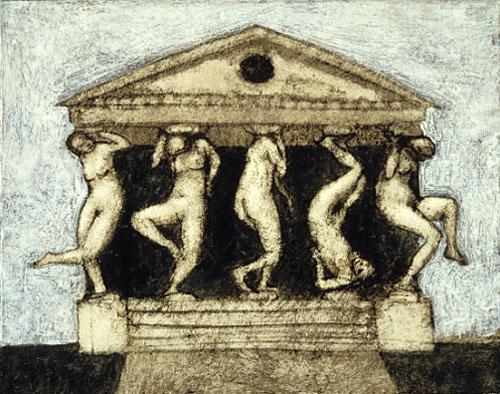dancing caryatids