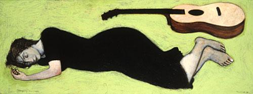 Sleeping musician
