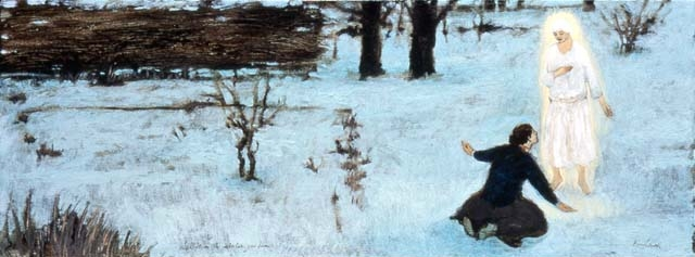 Revelation in winter garden