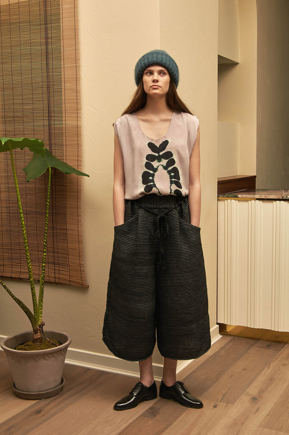 Albelia Shirt by 11.11. eleven eleven, Dhurr Pants by 11.11 eleven eleven, Tela Cuff by Erin Considine