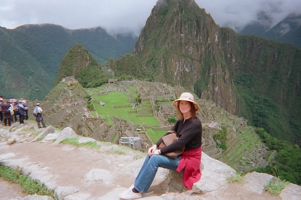 Here we are visiting the Lost City of the Incas--Machu Picchu.