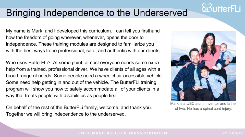 Excerpt from the ButterFLi Sensitivity Training manual