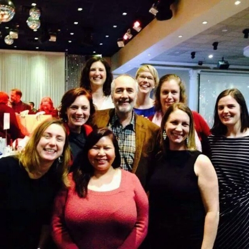 Attending First Call's Annual Fundraiser where we met vocal supporter, Raffi!