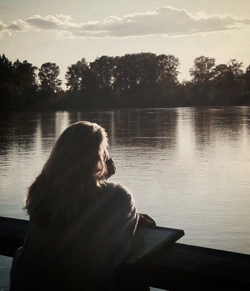 Sombre, contemplative, still anonymous.