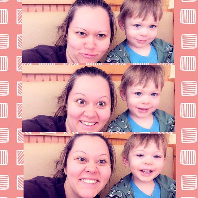 #silly #face #brunch after #tinkergarten class #messyhairdontcare #toddlersofinstagram #heisdefinitelymychild 😆❤️