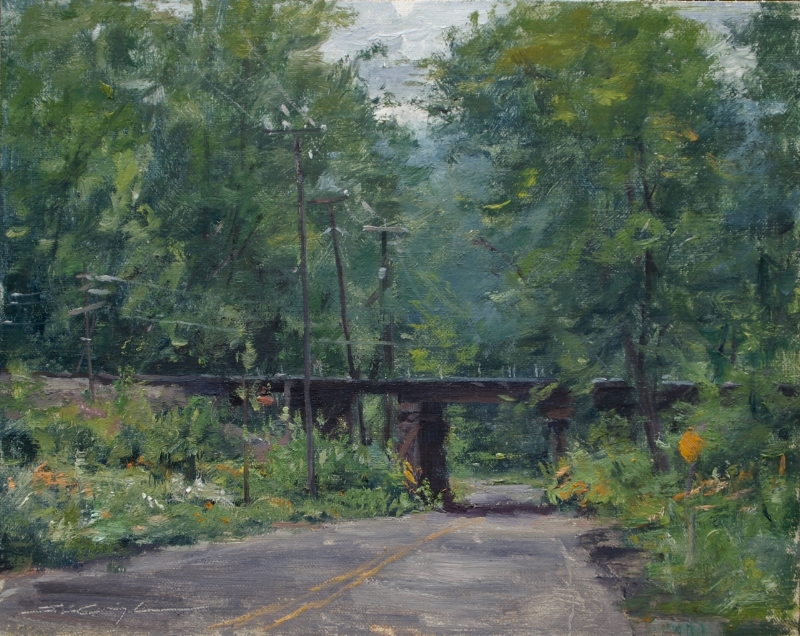 "SOLD ""Trestle and Flowers"""