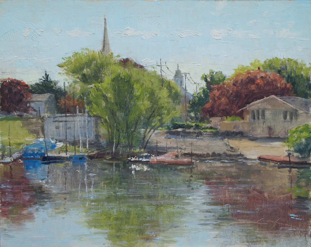 """SOLD """"Spring Backwater"""""""
