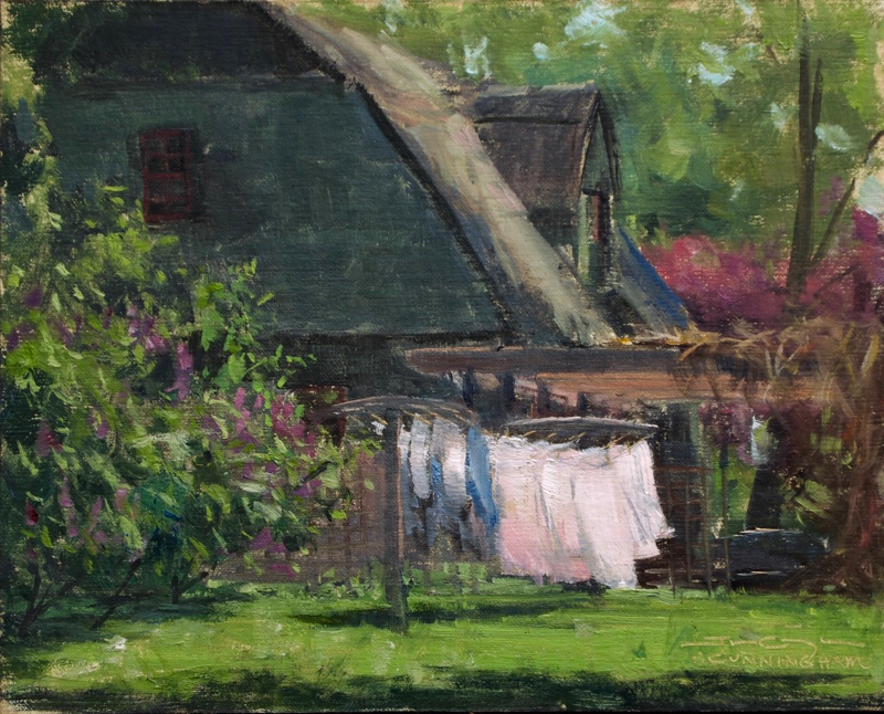SOLD - Linens and Lilacs, Field Study