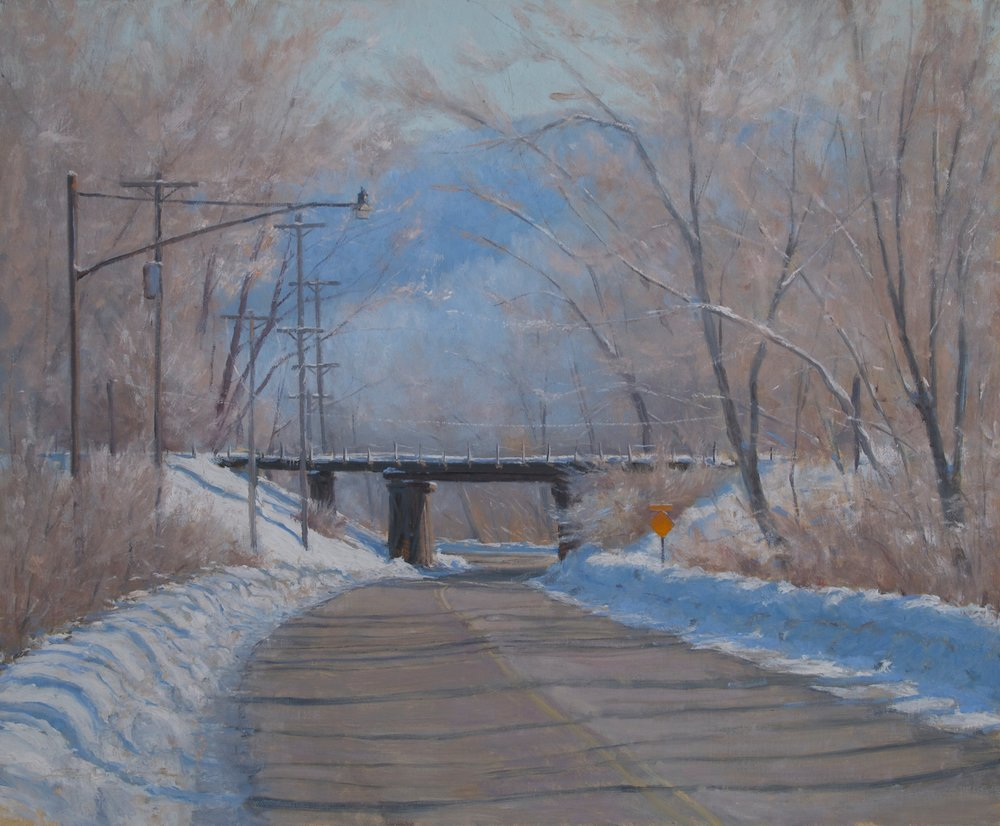 """February Frost"", 20""x24"", Oil on Linen   Award of Excellence  &  People's Choice  Extremely Minnesotan, Robbin Gallery, 2013"