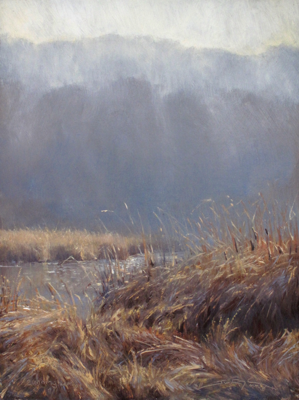 """Surrendering the Frost"", 16""x12"", Oil on Mounted Linen, Private Collection  "" Finalist "" for Raymar Fine Art Competition, November 2009"