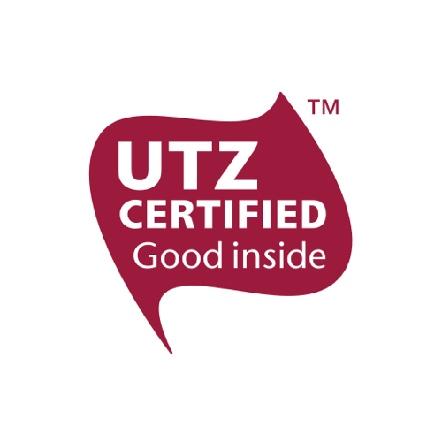UTZ certified products have been sourced, from farm to shop shelf, in a sustainable manner.