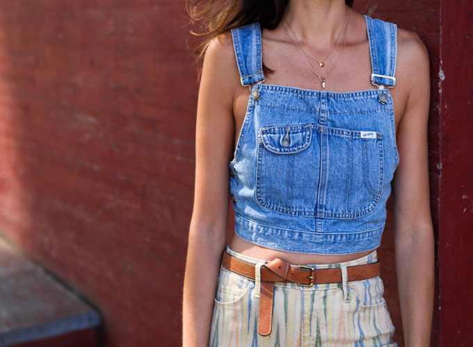 Denim Overall Top