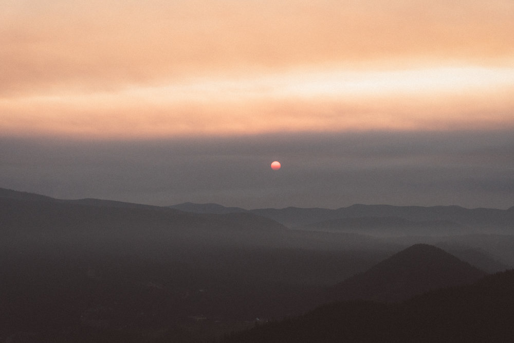 Sunrise from Tom, Dick and Harry Mtn, OR, 2017