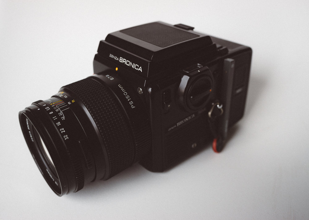 Bronica SQ-Ai and 150mm f/4 lens.