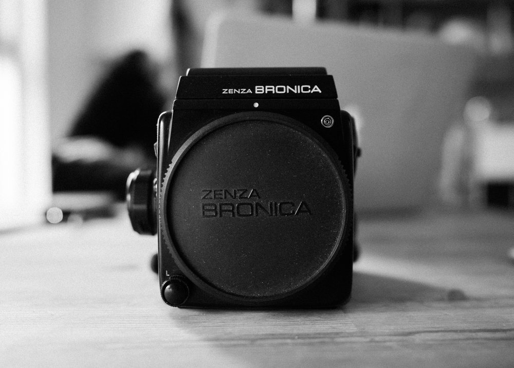 Bronica SQ-Ai (body pictured here), my medium format camera of choice