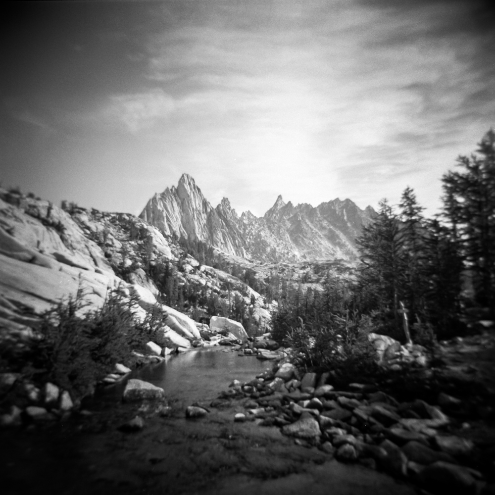 It took me two days to get up here (hiking and some scrambling) and make this image (taken with a Holga by the way, because the Bronica was too heavy). And while I love it, I don't have another photo from that trip that I like.