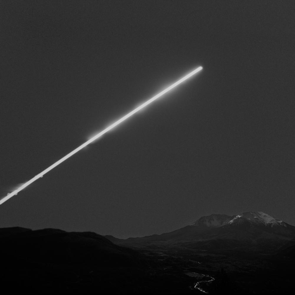Full moon above Mt St Helens, October 2017
