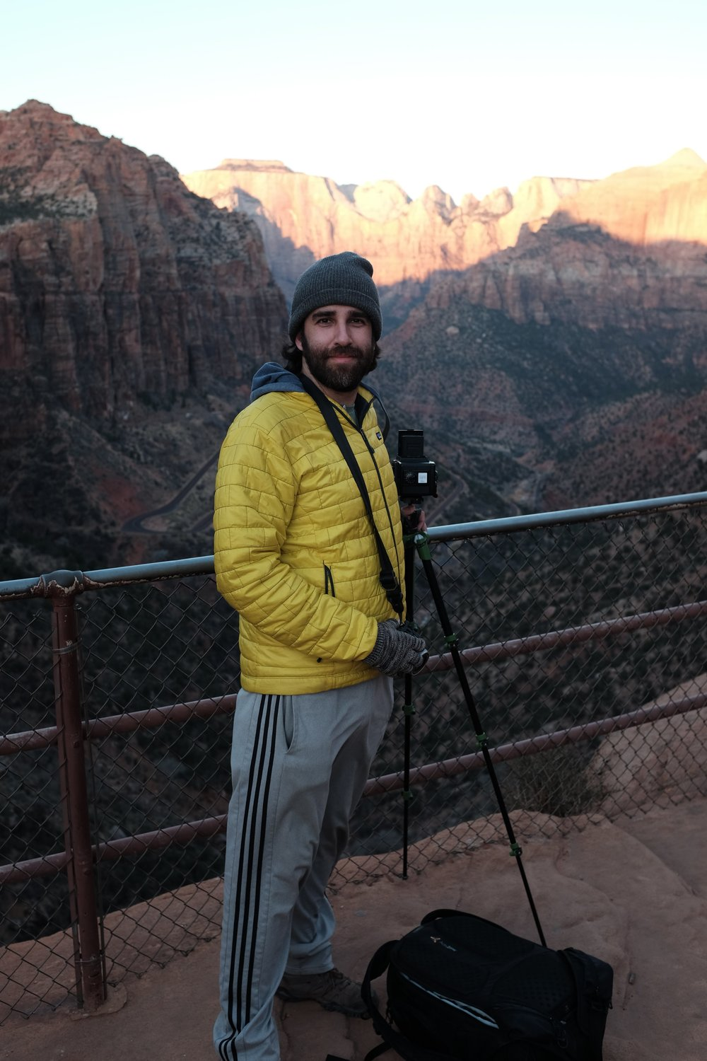 me and my camera in Zion, Utah