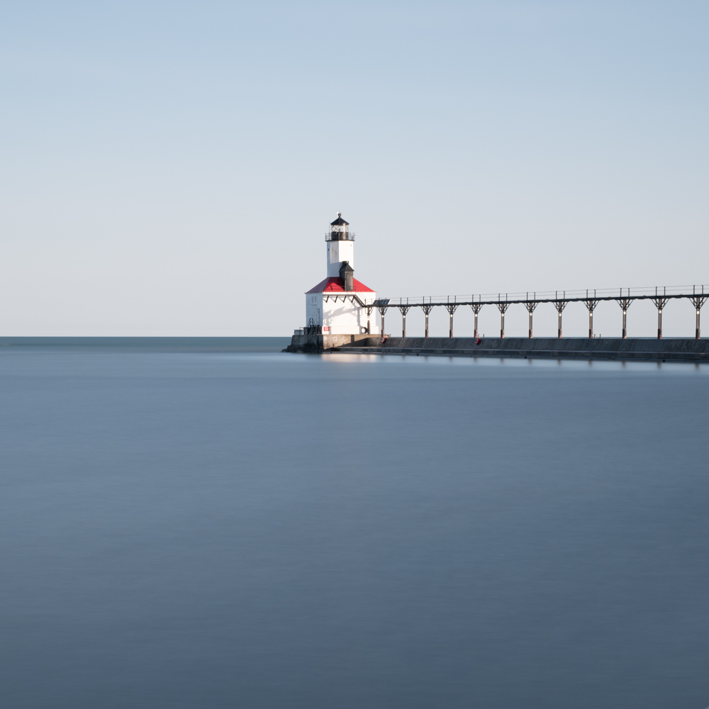 Lighthouse, Michigan City, April 2018
