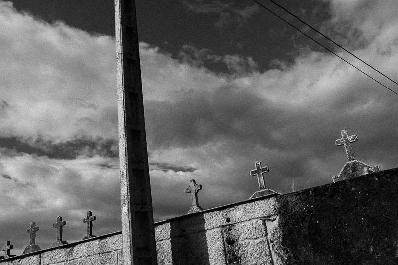 """Crosses"", Spain, July 2018. Image created with  AOWS B&W Red Filter   preset ."