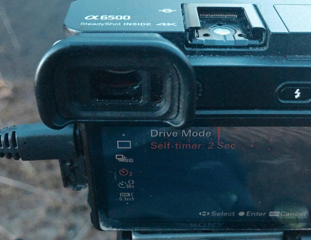 Shutter delay to avoid camera shake.