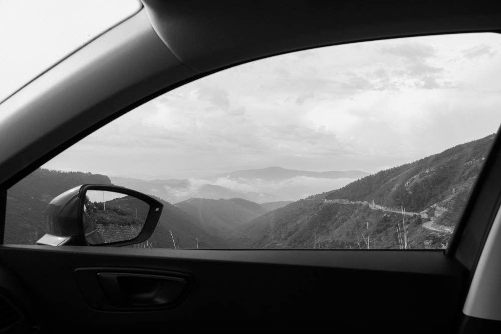 Of course, my first trip with the new car was to the mountains.