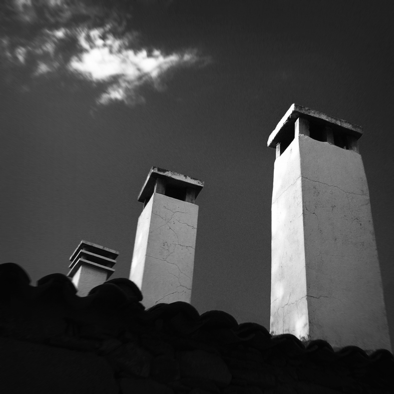 Roof chimneys, Idanha-a-Velha, September 2018