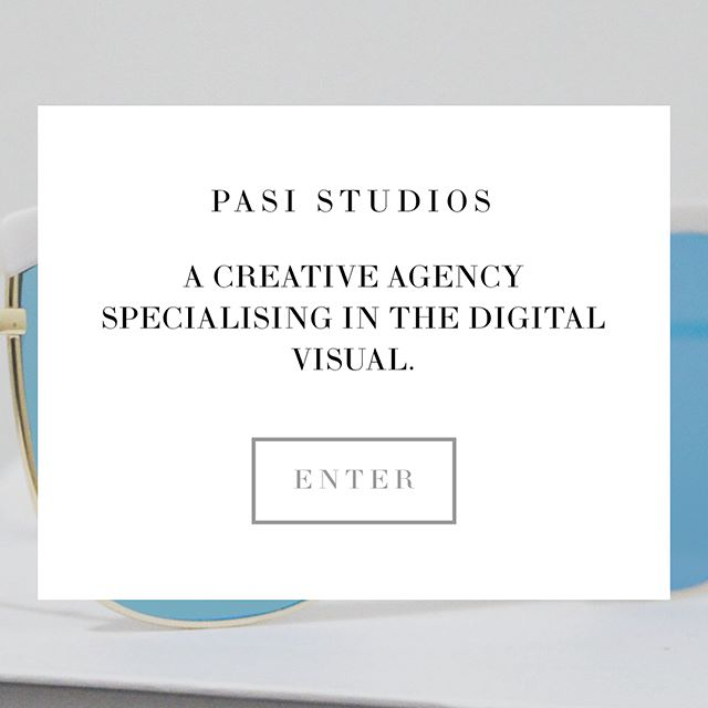 Super excited to announce our site PASISTUDIOS.COM is live and more exciting stuff to come.