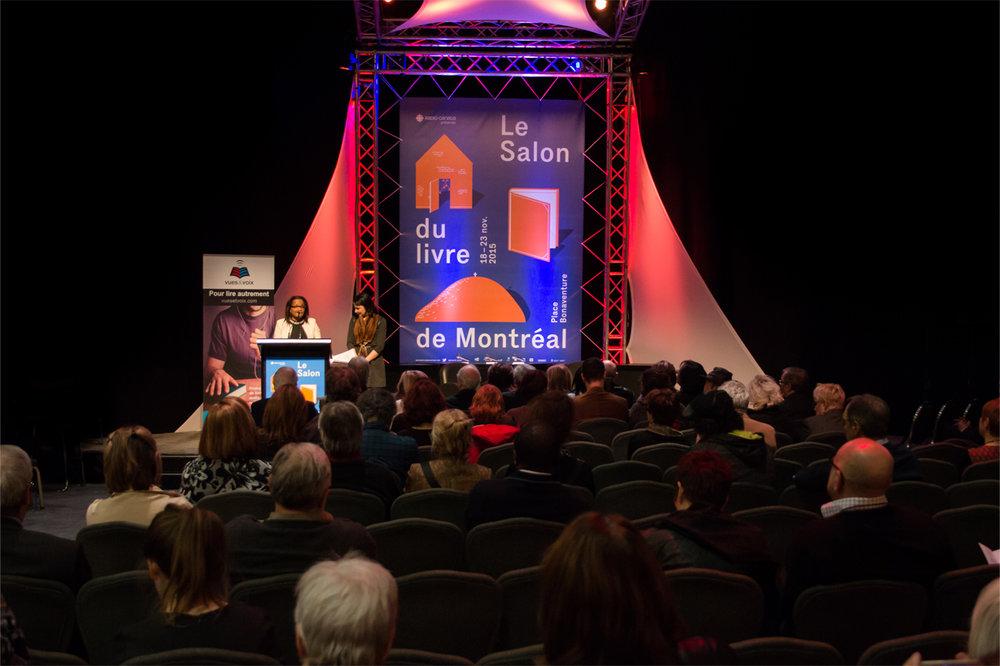 Salon du livre de Montréal pour Vues et Voix