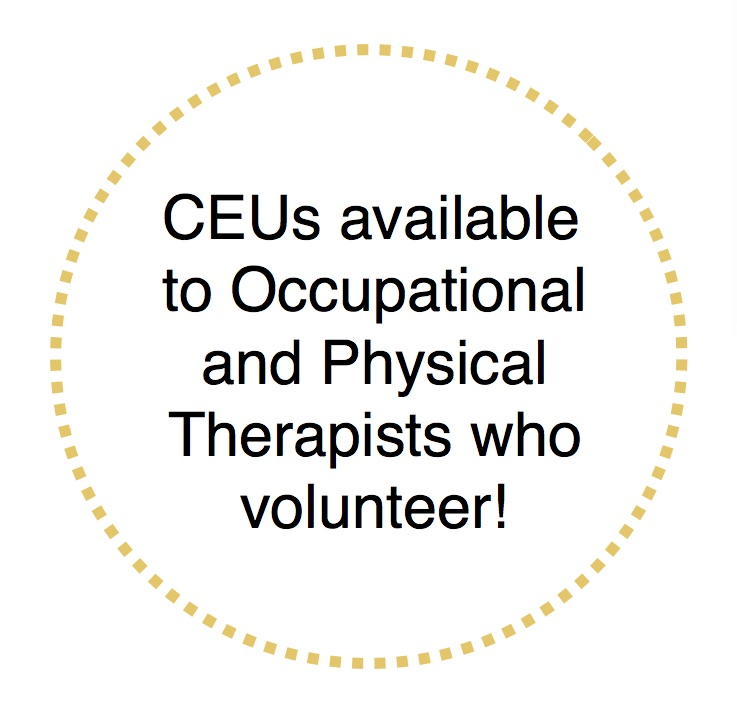 We appreciate you sharing our program with your clients and are able to provide CEU credit if you volunteer. -
