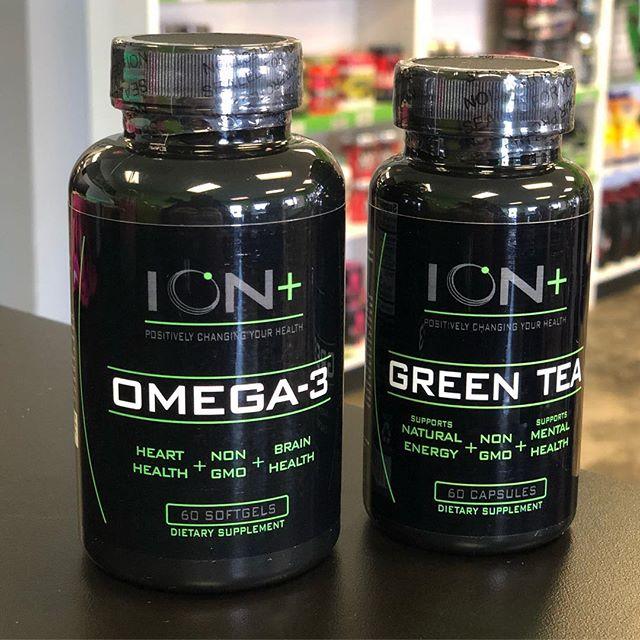 Label design of Ion+ Omega & Green Tea for @ionnutritioninc