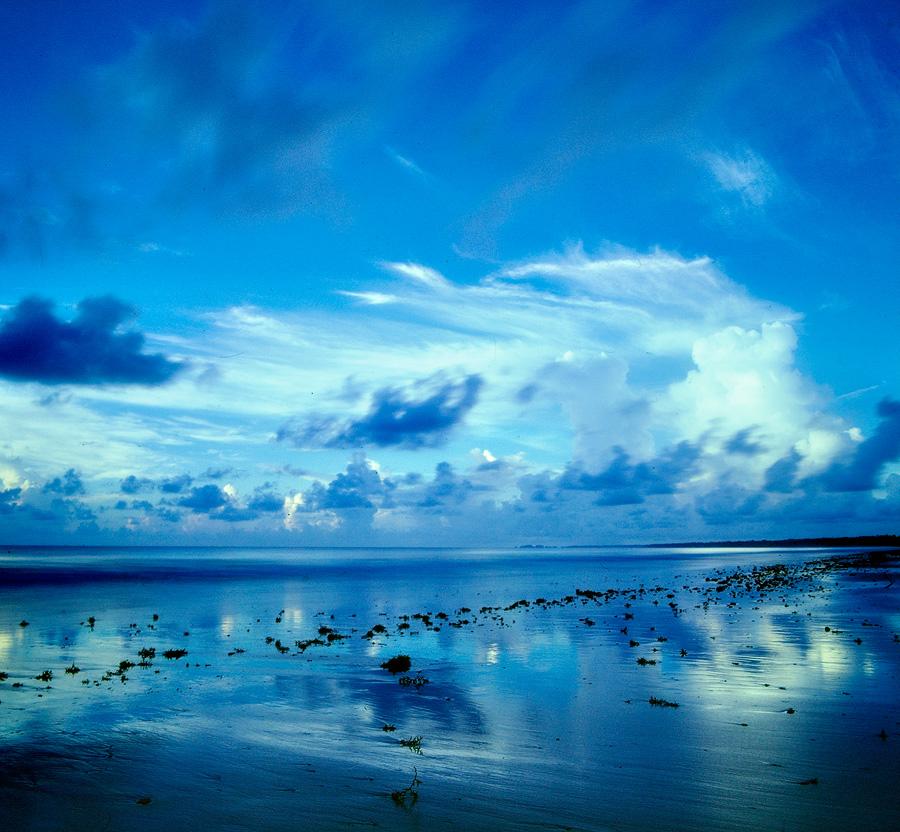 Rolleiflex camera, Fujichrome Velvia 50 film, tungsten filter on Mayaro beach, Trinidad.