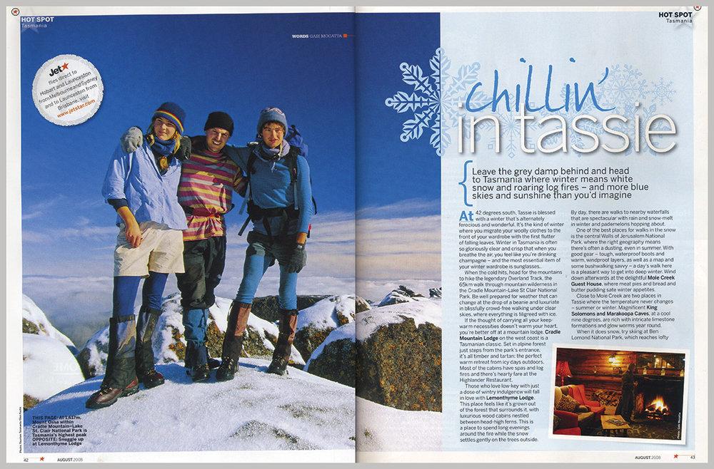 Jetstar Magazine – Chillin' In Tassie