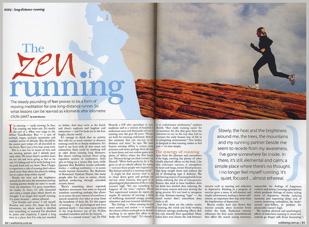 Wellbeing Magazine – The Zen Of Running