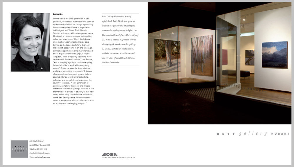 Bett Gallery Hobart — Profile