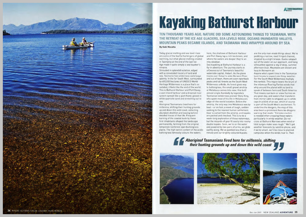New Zealand Adventure Magazine — Kayaking Bathurst Harbour