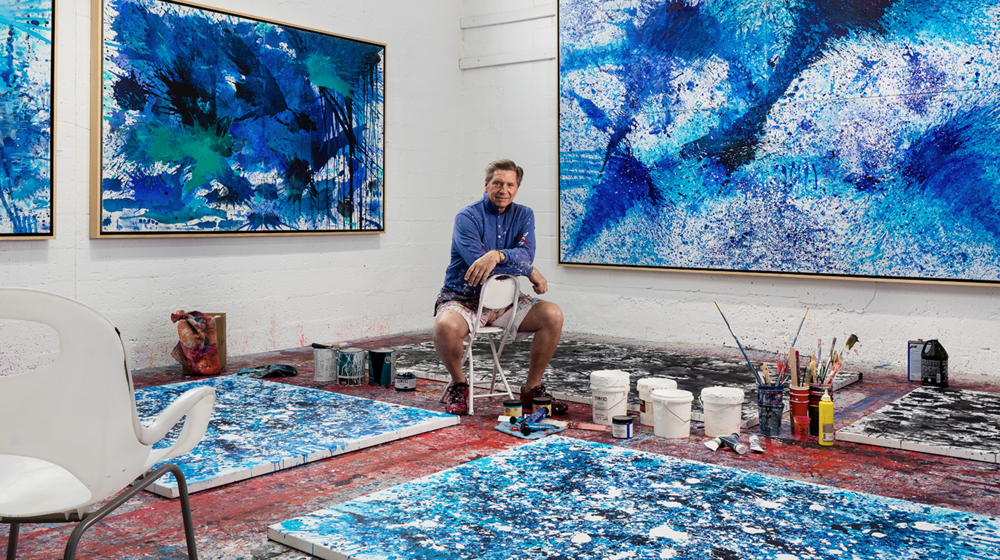 J. Steven Manolis in his Miami studio. Credit: Sargent Architectural Photography.