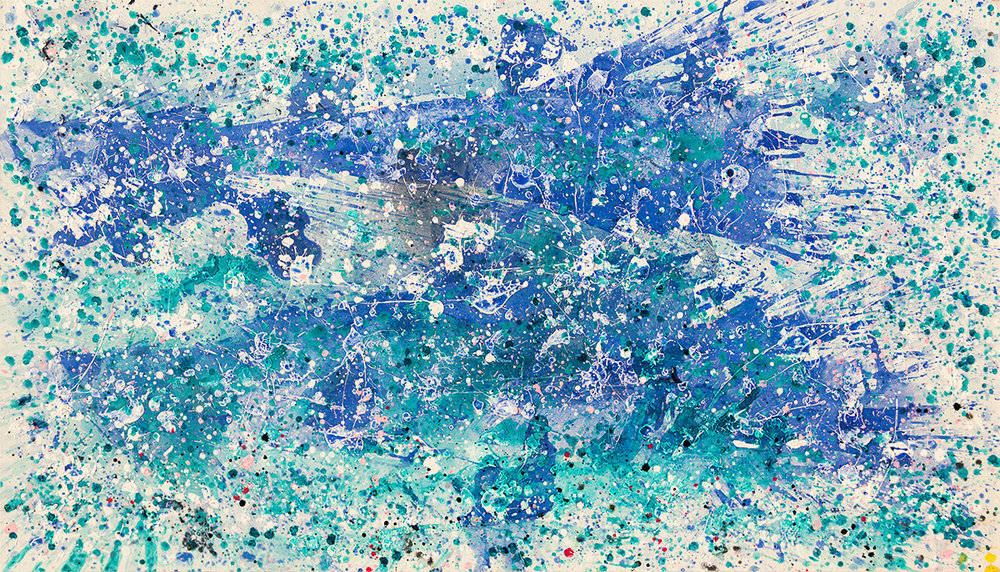 Splash Blue & White, 2014