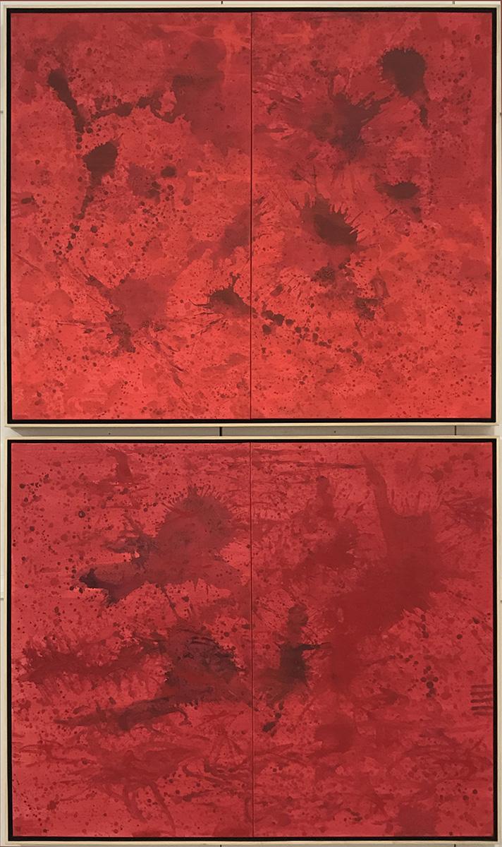 Redworld Glaze Diptych, 2016