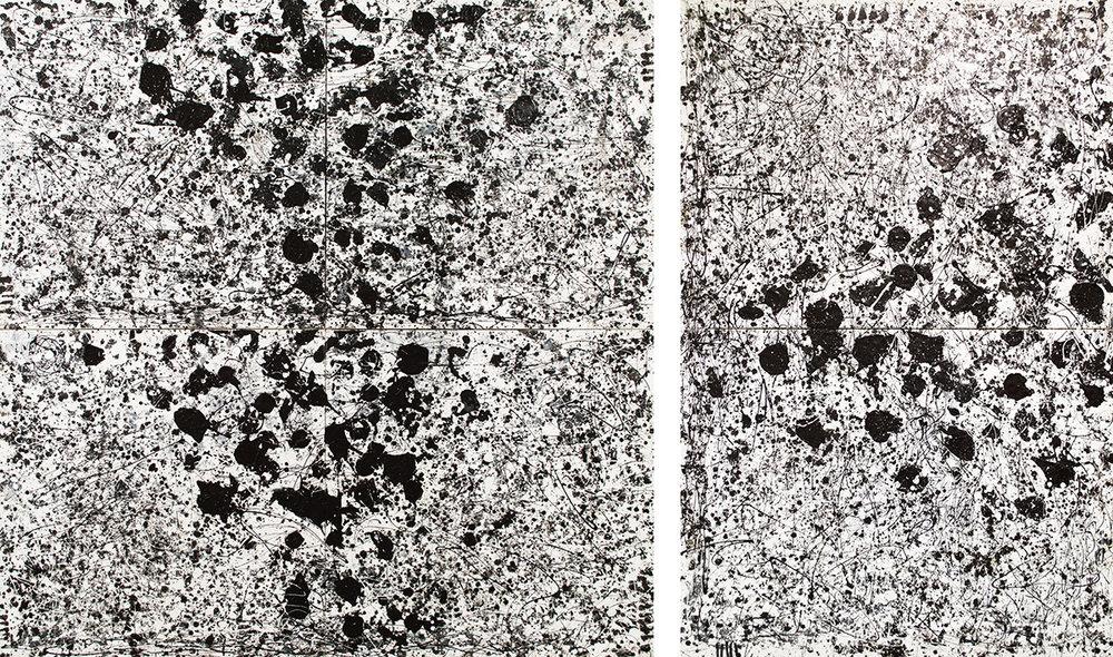 Black & White Diptych, 2016